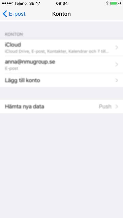 e-post för iPhone och iPad